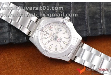 1:1 BREITLING COLT AUTOMATIC 44MM SS  WHITE TEXTURED DIAL ON SS BRACELET A2824