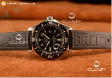 BREITLING SUPEROCEAN 2824 AUTO STEEL CASE WITH BLACK DIAL AND BLACK RUBBER STRAP - 1:1 ORIGIANL (GF)