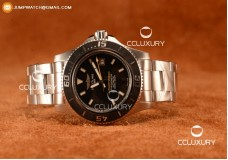BREITLING SUPEROCEAN 44MM 2824 AUTO STEEL CASE WITH BLACK DIAL AND STEEL BRACELET YELLOW HANDS - 1:1 ORIGIANL (GF)