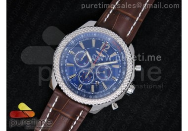 Bentley Barnato Chrono SS Blue Dial on Brown Leather Strap A7750