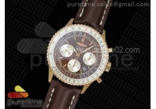 Navitimer 01 RG Brown Dial on Brown Leather Strap A7750