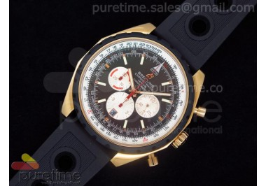 Chronomatic 49 RG Brown Dial on OR Rubber Strap A7750